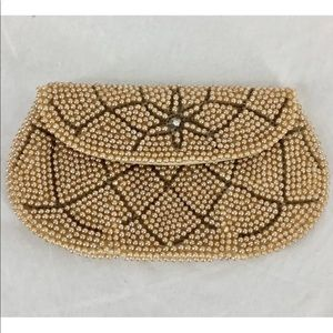 Handbags - Vintage Mid Century Faux Pearl Beaded Coin Purse
